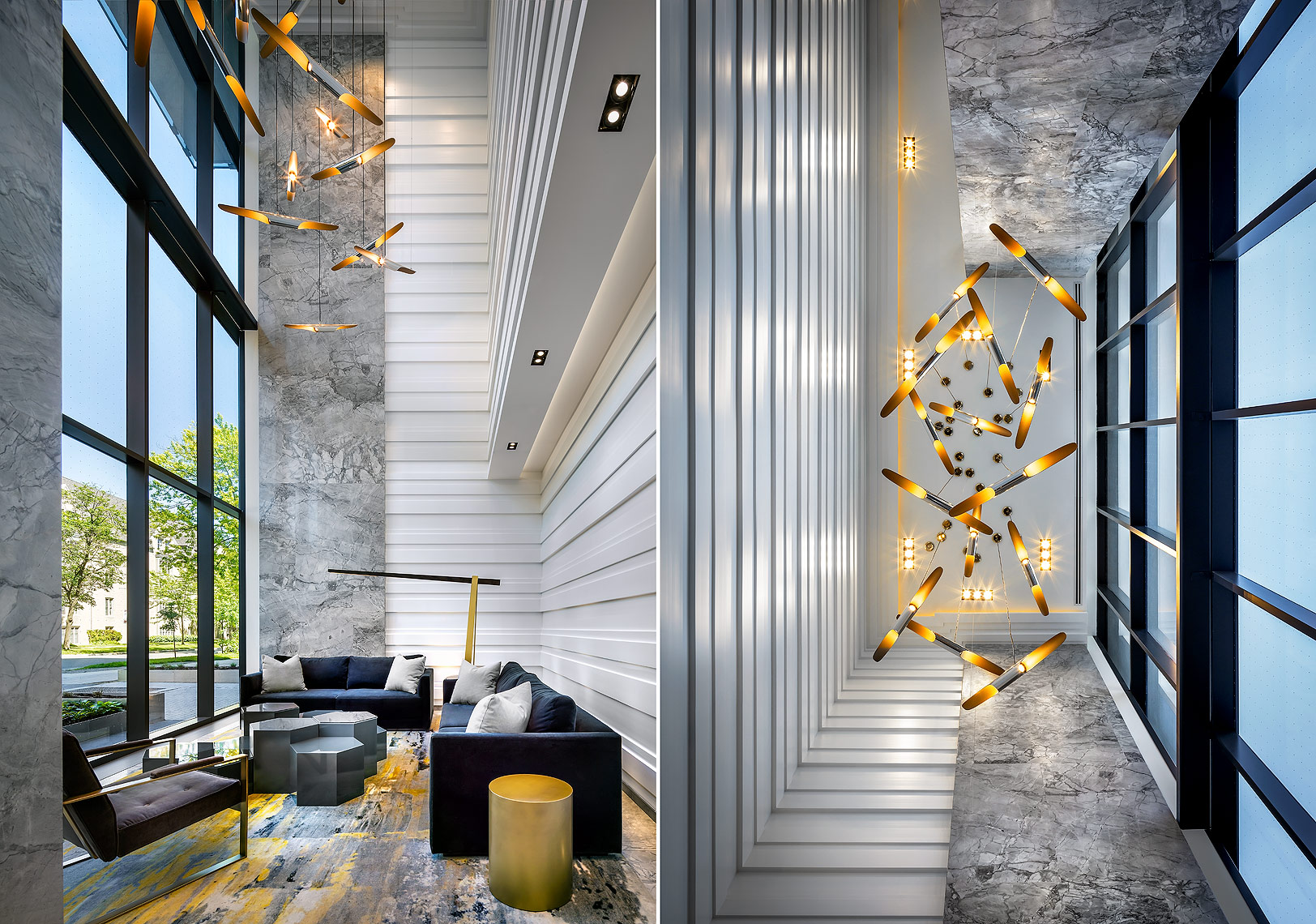 1 Thousand Bay Condo Lobby by Cresford Developments