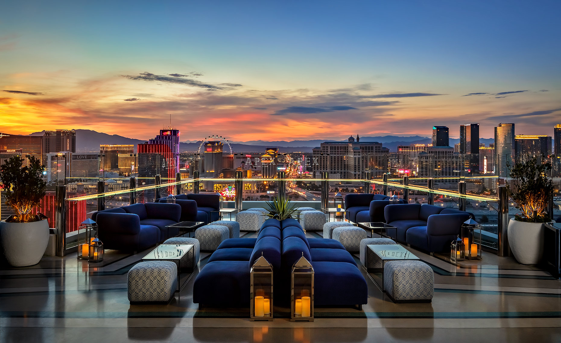 Apex Social Club Rooftop Patio Las Vegas