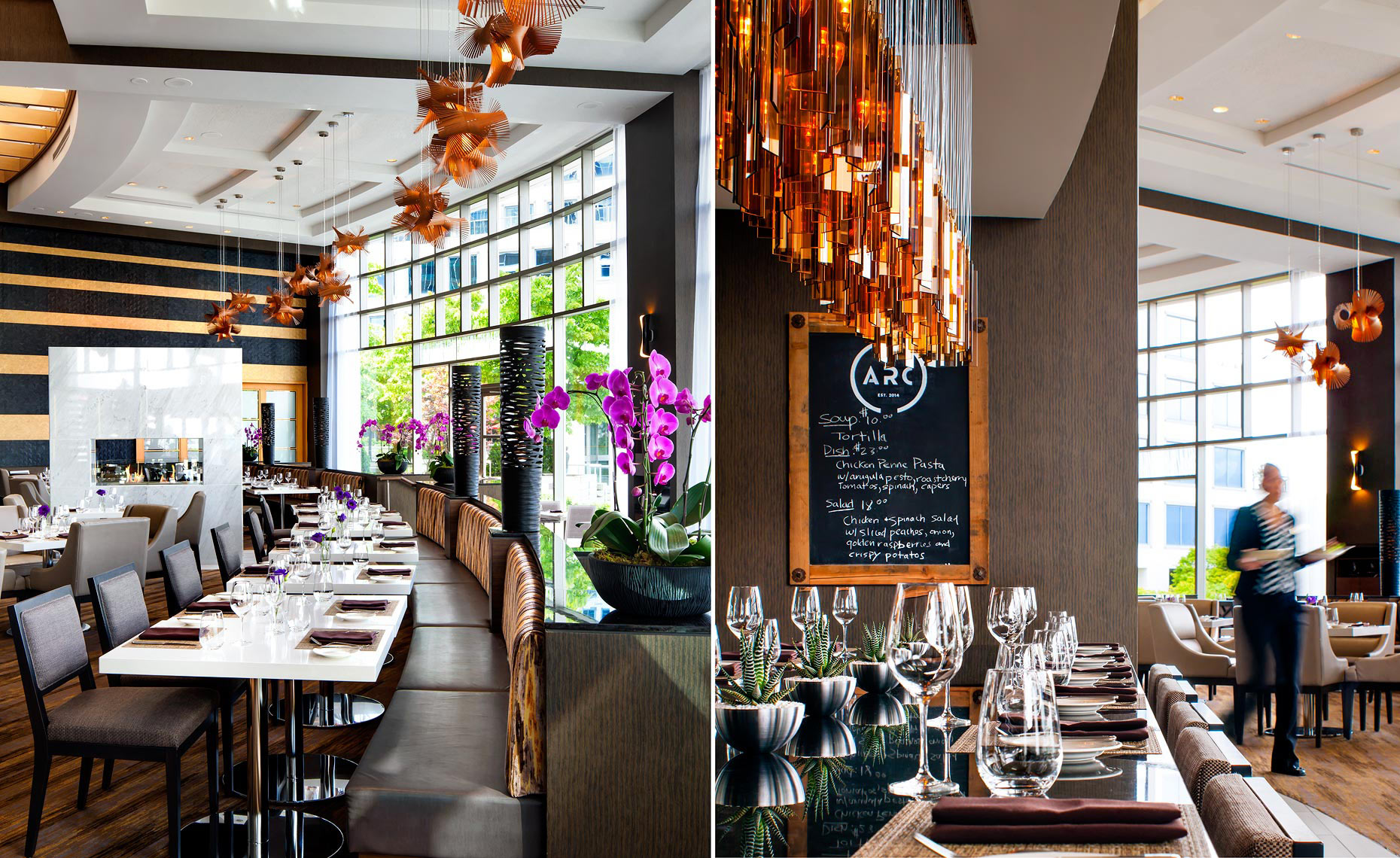 Arc Restaurant at the Fairmont Waterfront Hotel -  Vancouver, Canada - Restaurant Photography