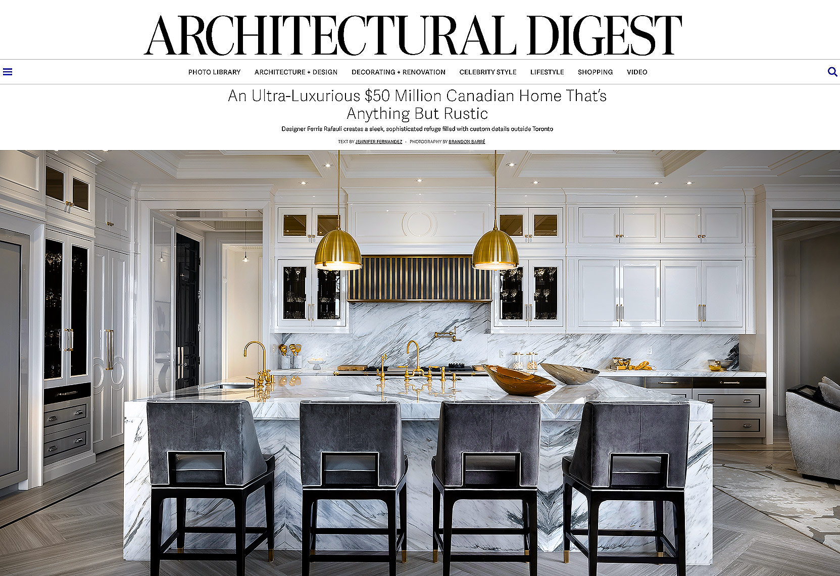 Architectural Digest Cover - Ferris Rafauli Kitchen