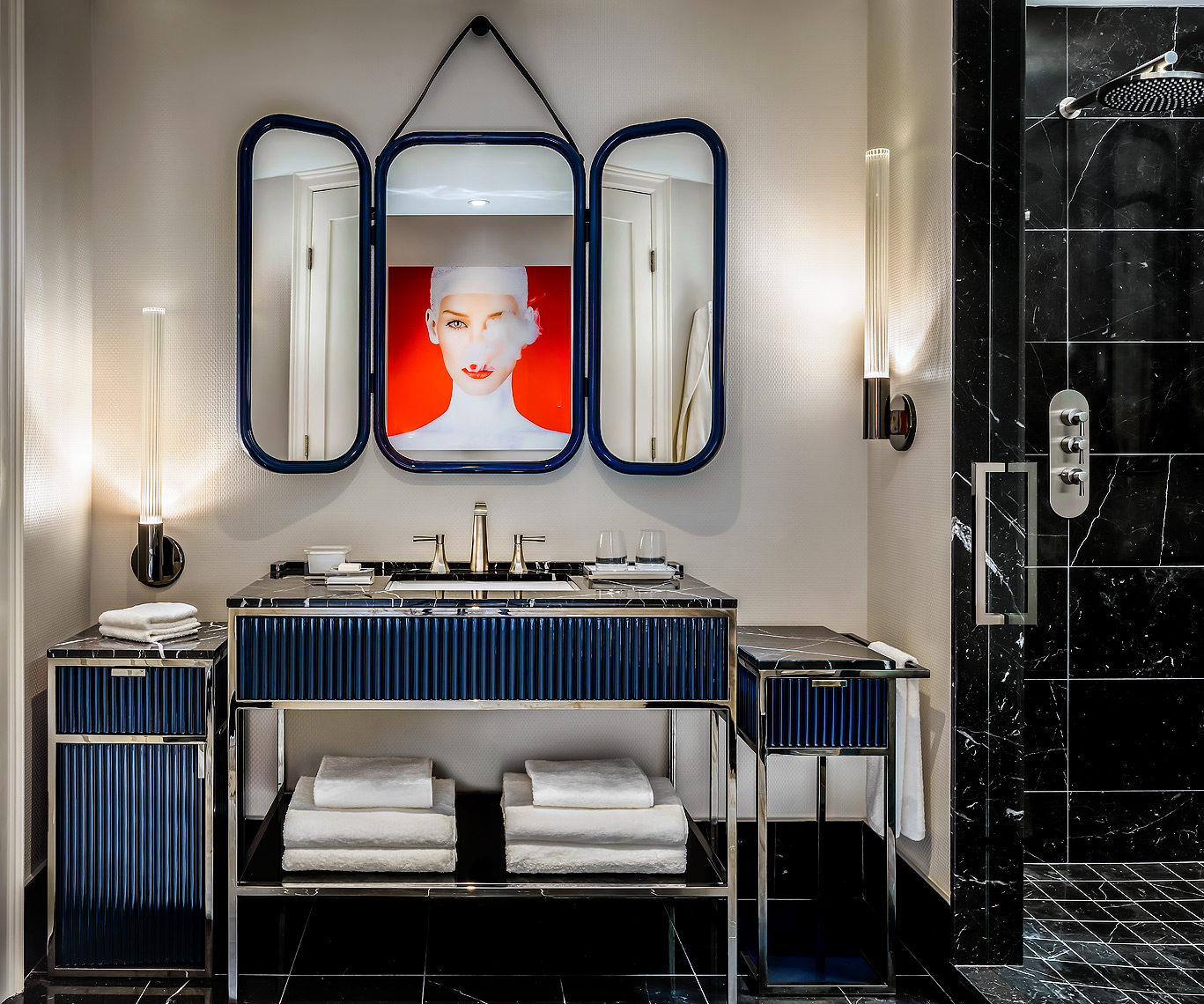Bisha Hotel Bathroom. Design by Studio Munge - Hotel Photography