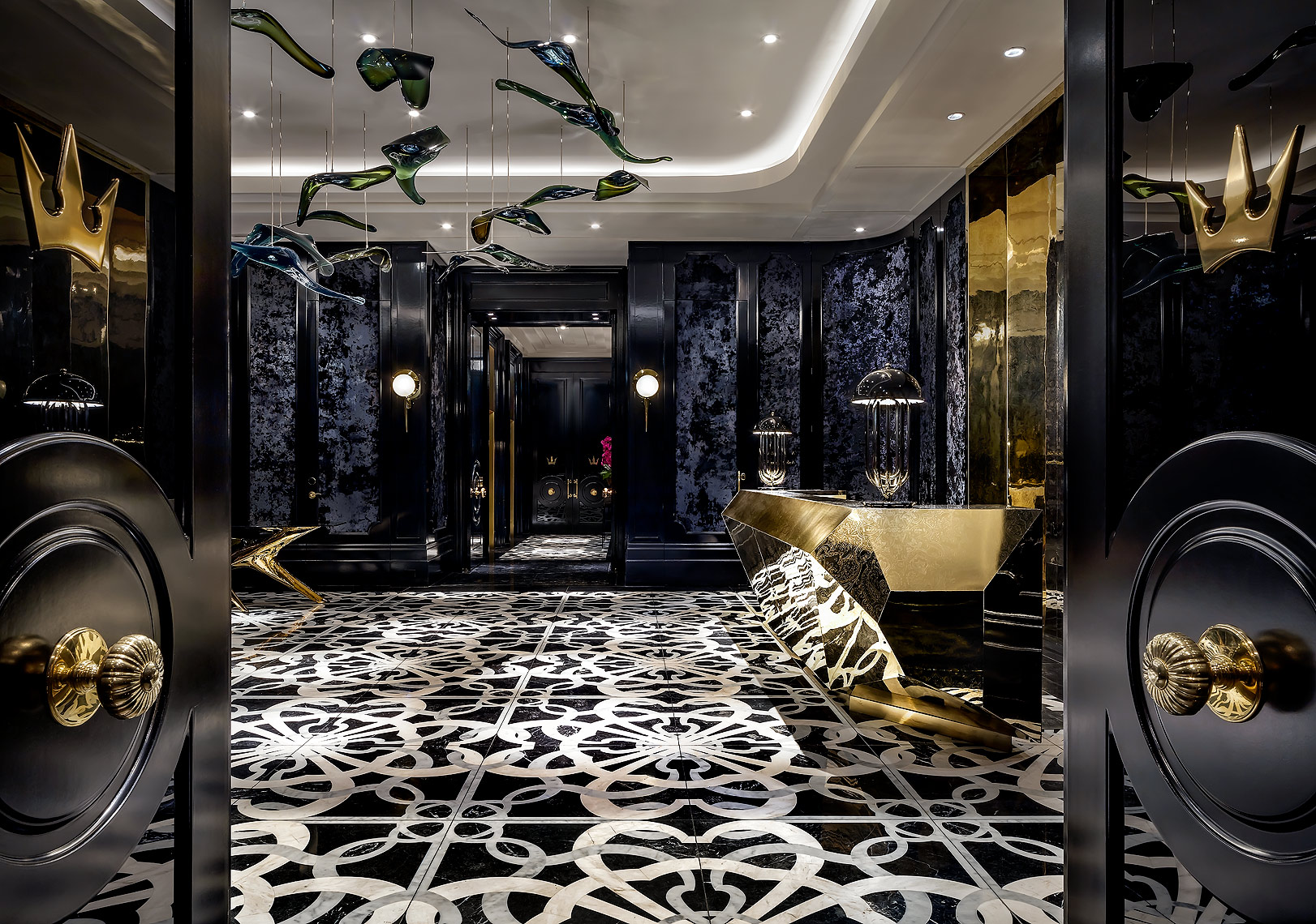 Bisha Hotel, Toronto - Lobby Reception by Toronto hospitality photographer, Brandon Barré