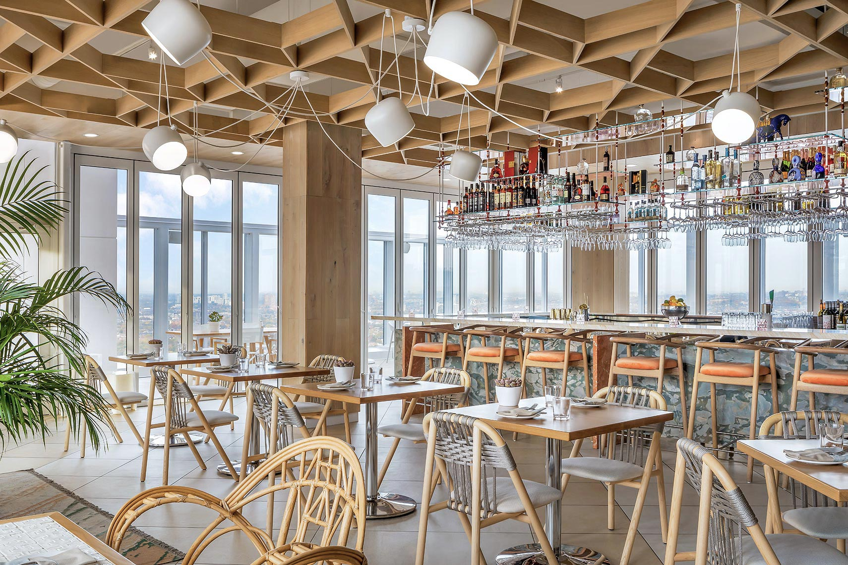 KOST Restaurant at Bisha Hotel, Toronto. Design by Studio Munge