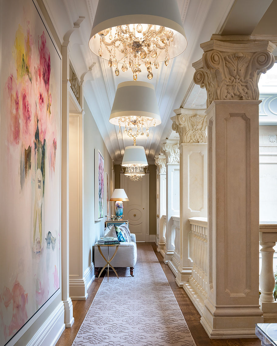 Lori Morris Design Luxury Grand Hallway