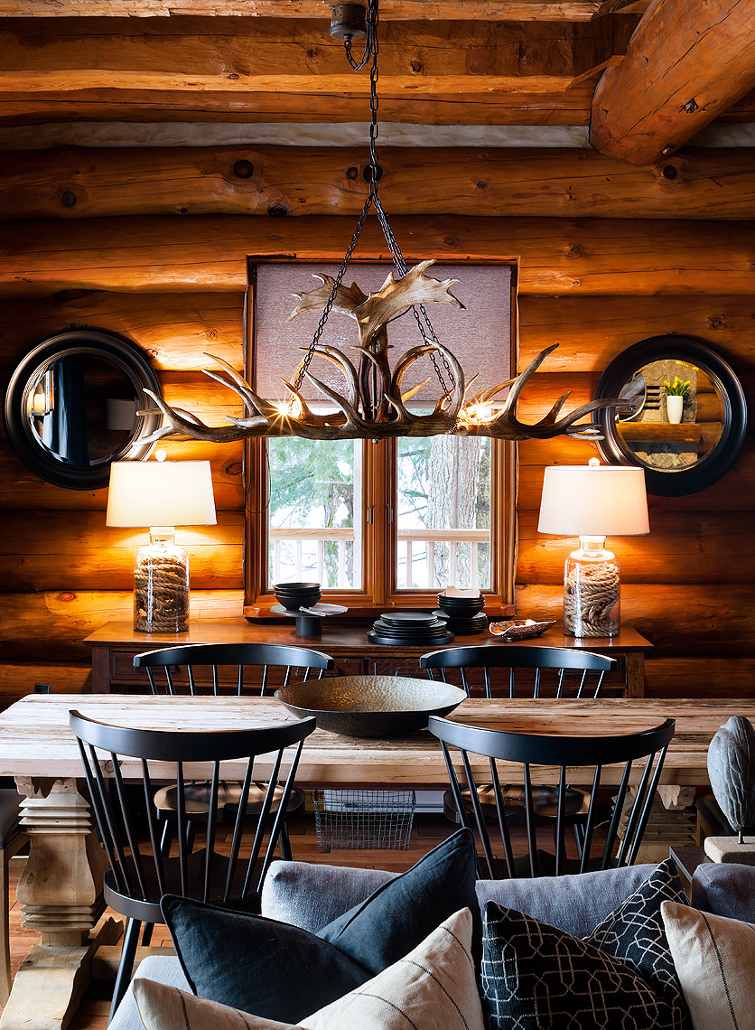 Cabin Dining Room by Colin and Justin
