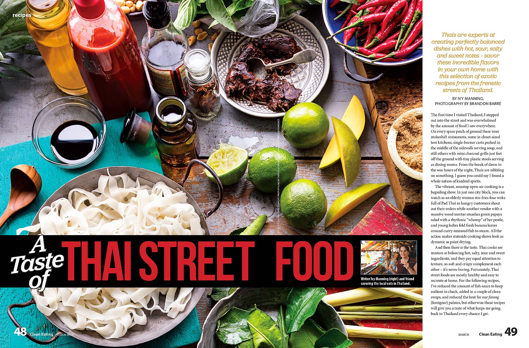 Clean Eating Magazine - Thai Street Food