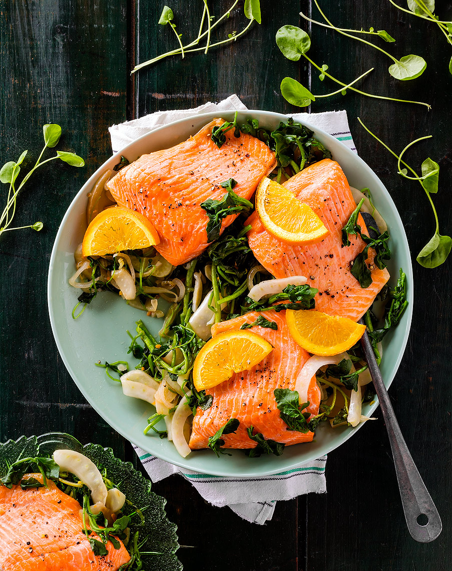 Clean Eating Magazine - Grilled Salmon Platter