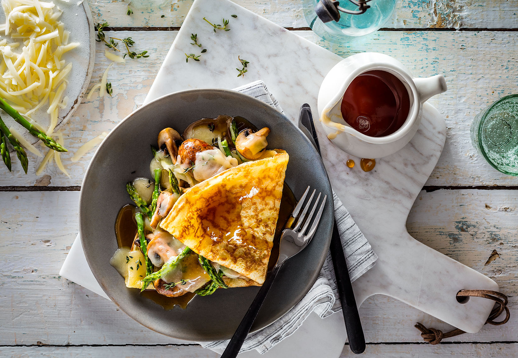 Suasage_Cheese_Crepe_with_Maple_Syrup