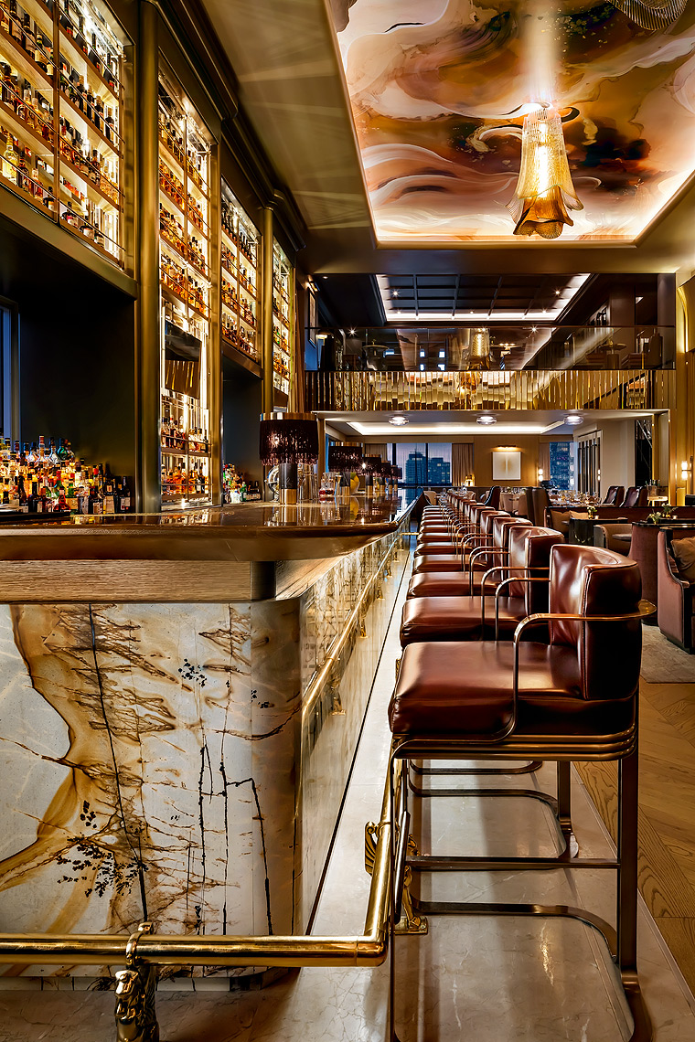 Louix Louis Bar at St Regis Hotel Toronto. Design by Design Agency