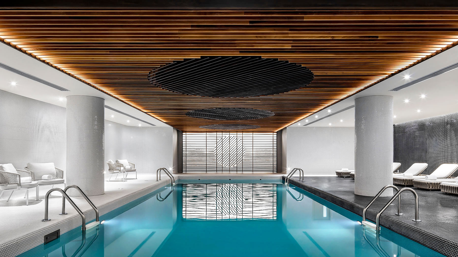 Fairmont Queen Elizabeth Hotel, Montreal, Pool - design by Sid Lee Architects