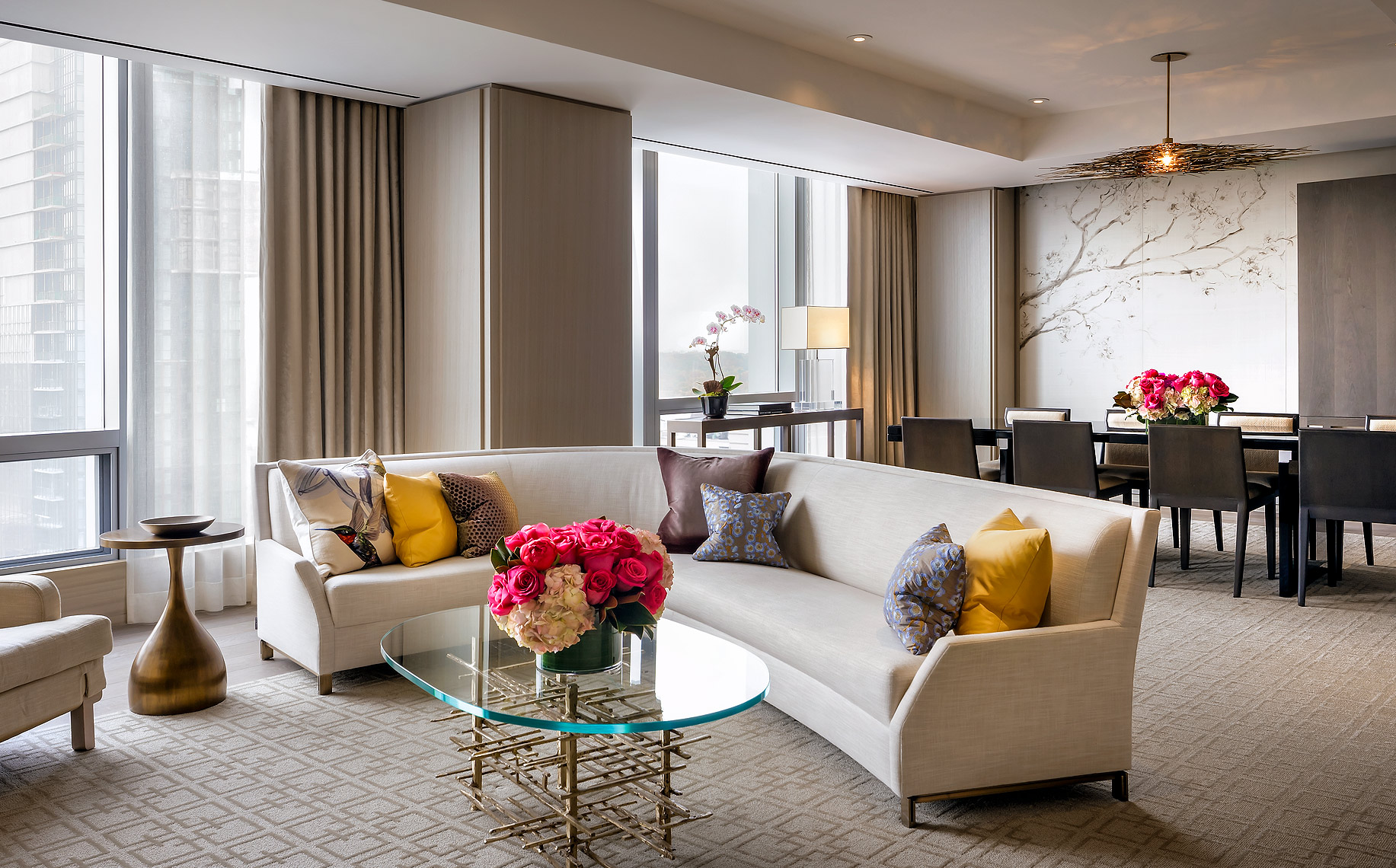 Four Seasons Hotel Toronto, Royal Suite - Design by Yabu Pushelberg - Hotel Photography.