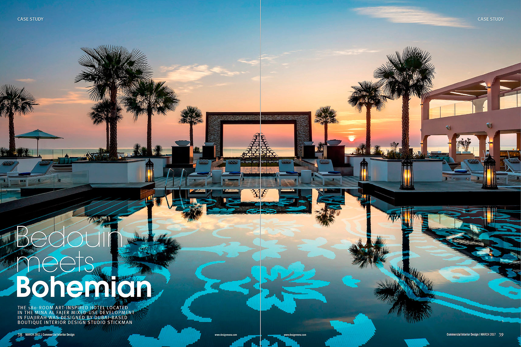 Fairmont_Fujairah_Hotel_Pool_Sunrise - Interior Design Magazine