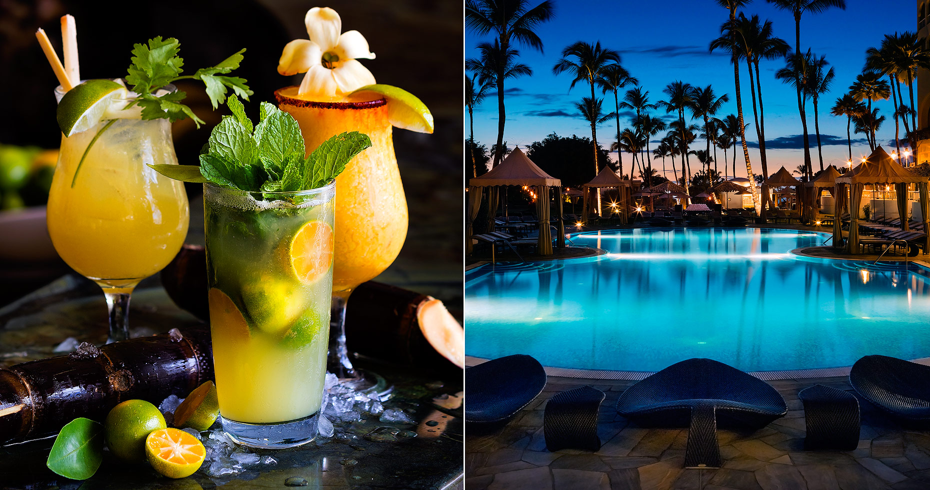 Hawaii_Sunset_Cocktails_Fairmont_Kea_Lani_Hotel - Resort Photography