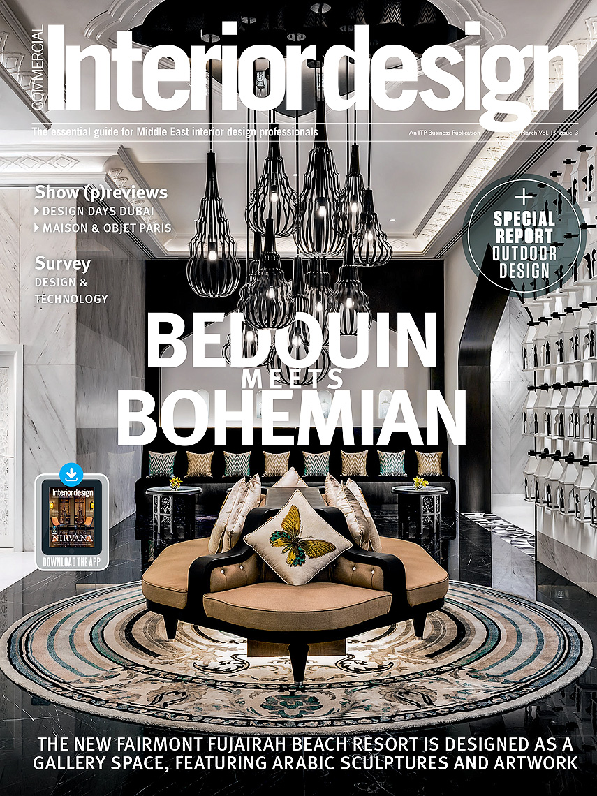 Interior Design Magazine Cover - Middle East - Fairmont Fujairah Hotel Lobby by Stickman Design