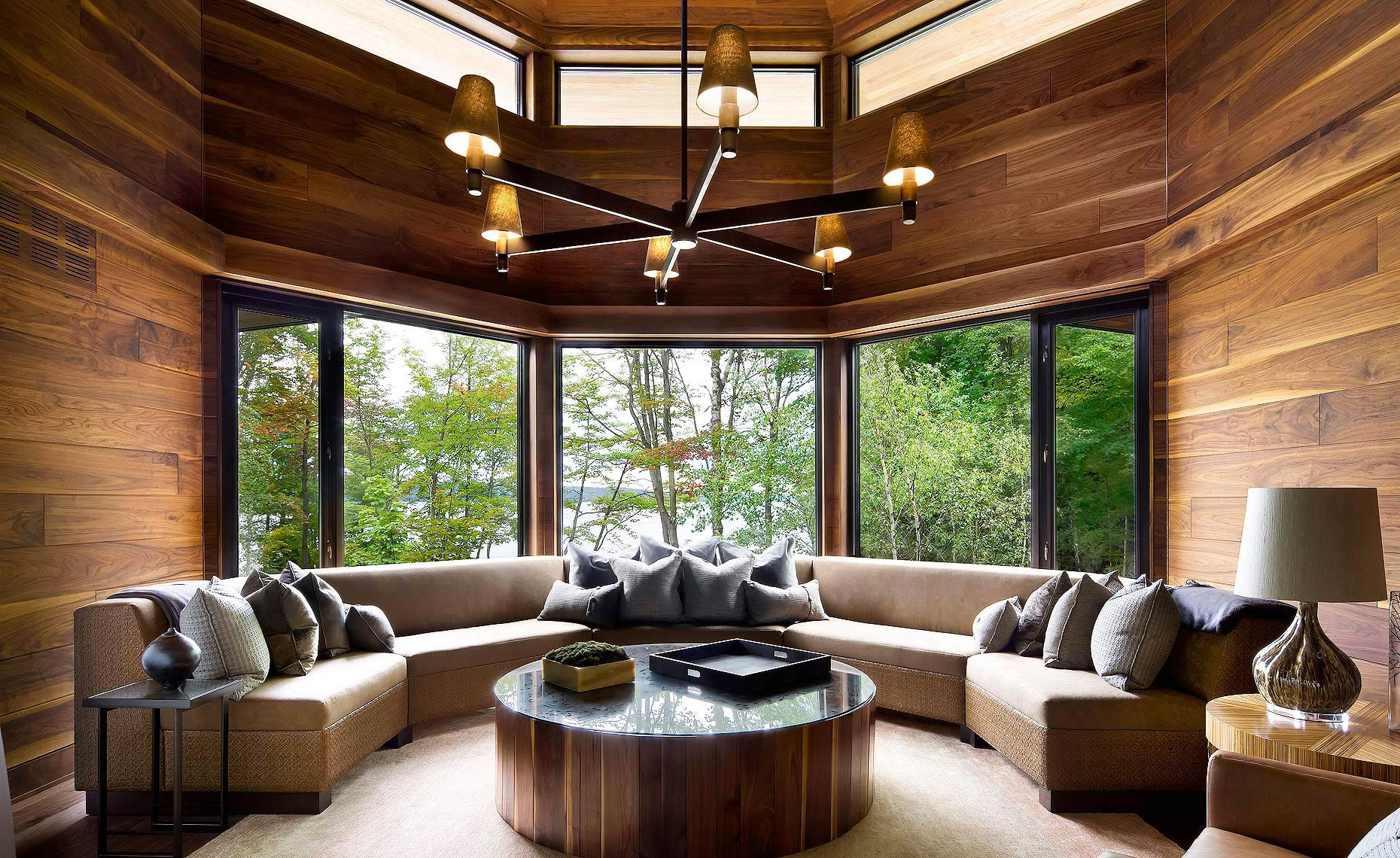 Luxury Muskoka Family Room by Lori Morris Design
