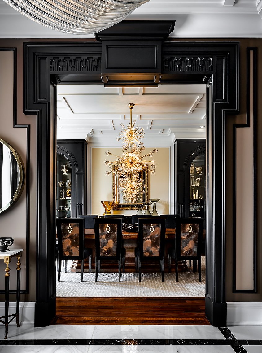 Formal Dining Room. Design by Lori Morris - Luxury Homes