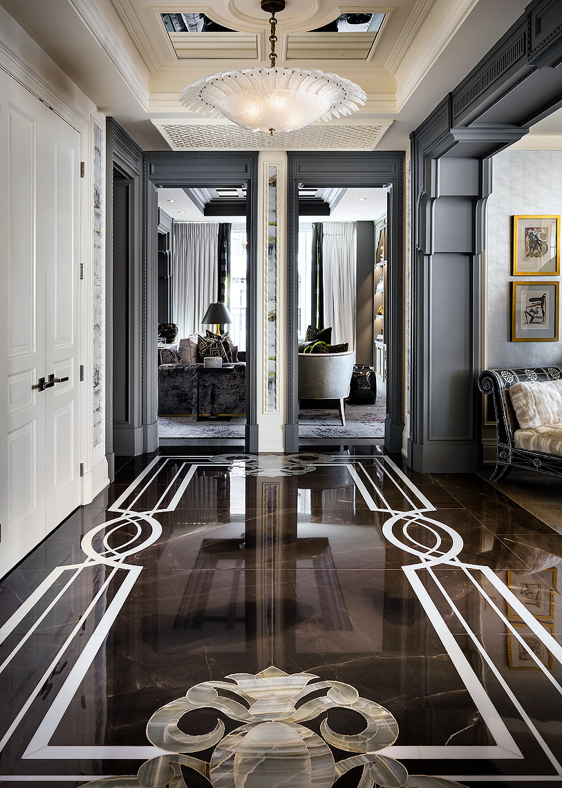 Luxury Homes Interior Design Photos: Residential Foyer. Design By Lori Morris