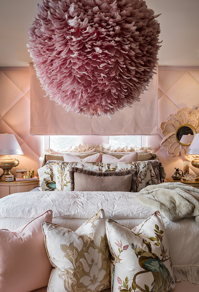Lori Morris Pink Feminine Luxury Residential Bedroom