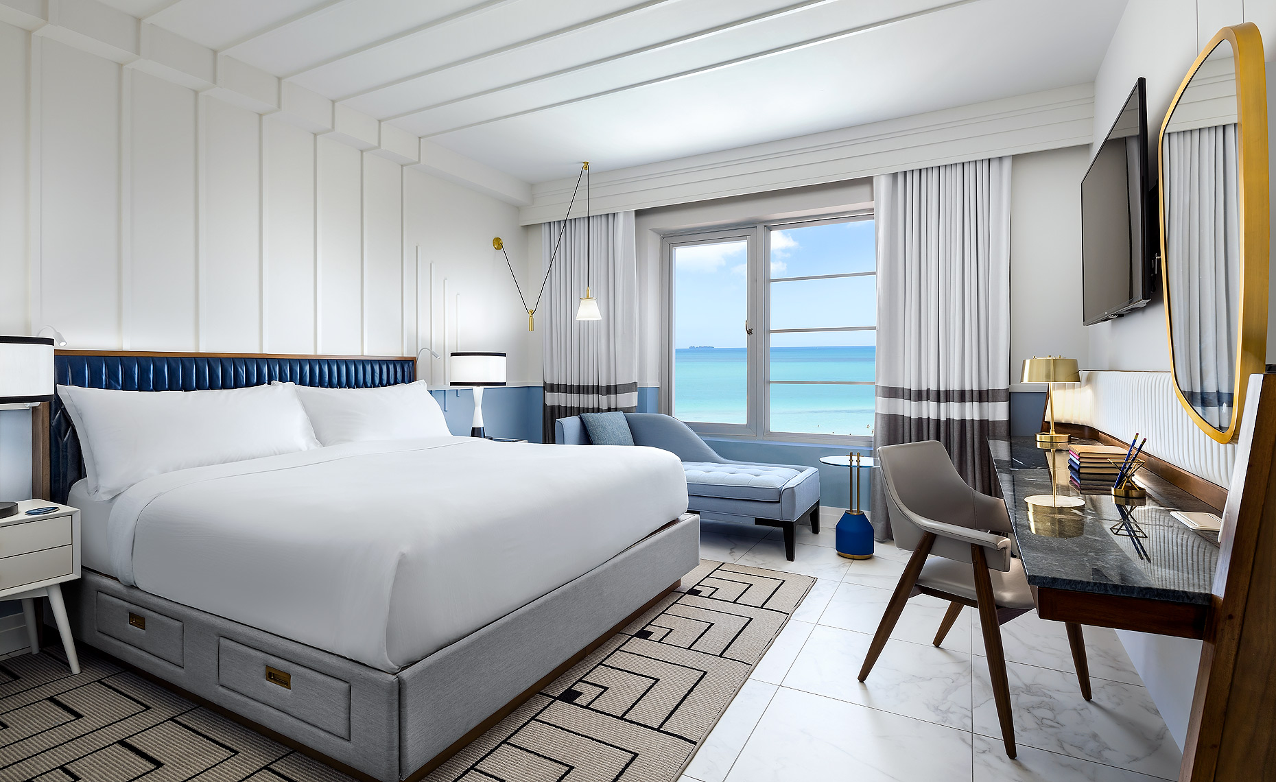 The Cadillac Hotel guestroom in Miami Beach by Brandon Barré, Boutique Hotel Photogrpaher