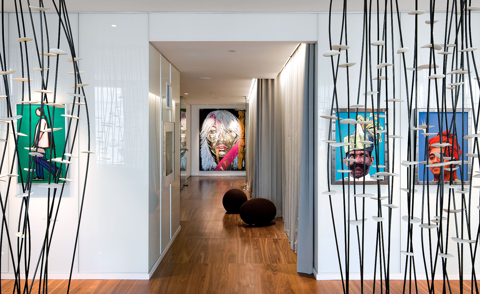 Dwell Magazine Art Wall Penthouse