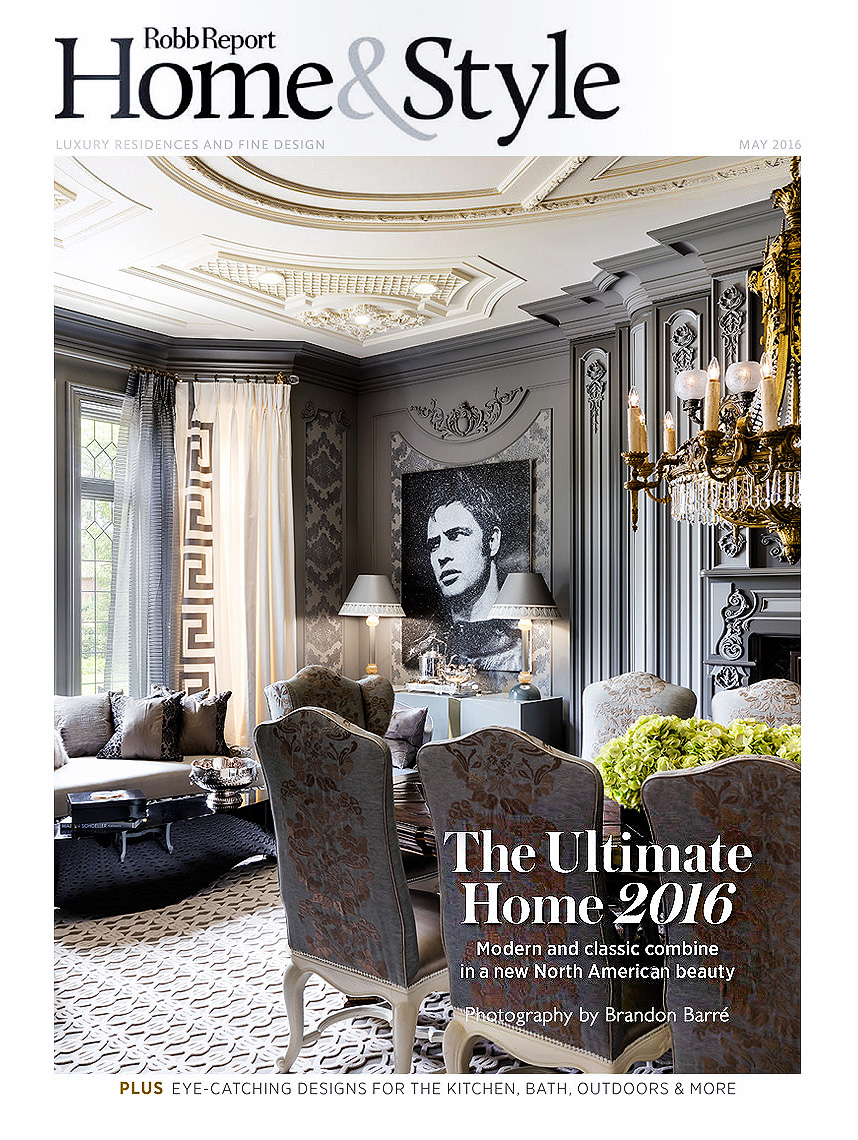 Robb Report Magazine Cover. Design by Lori Morris Design