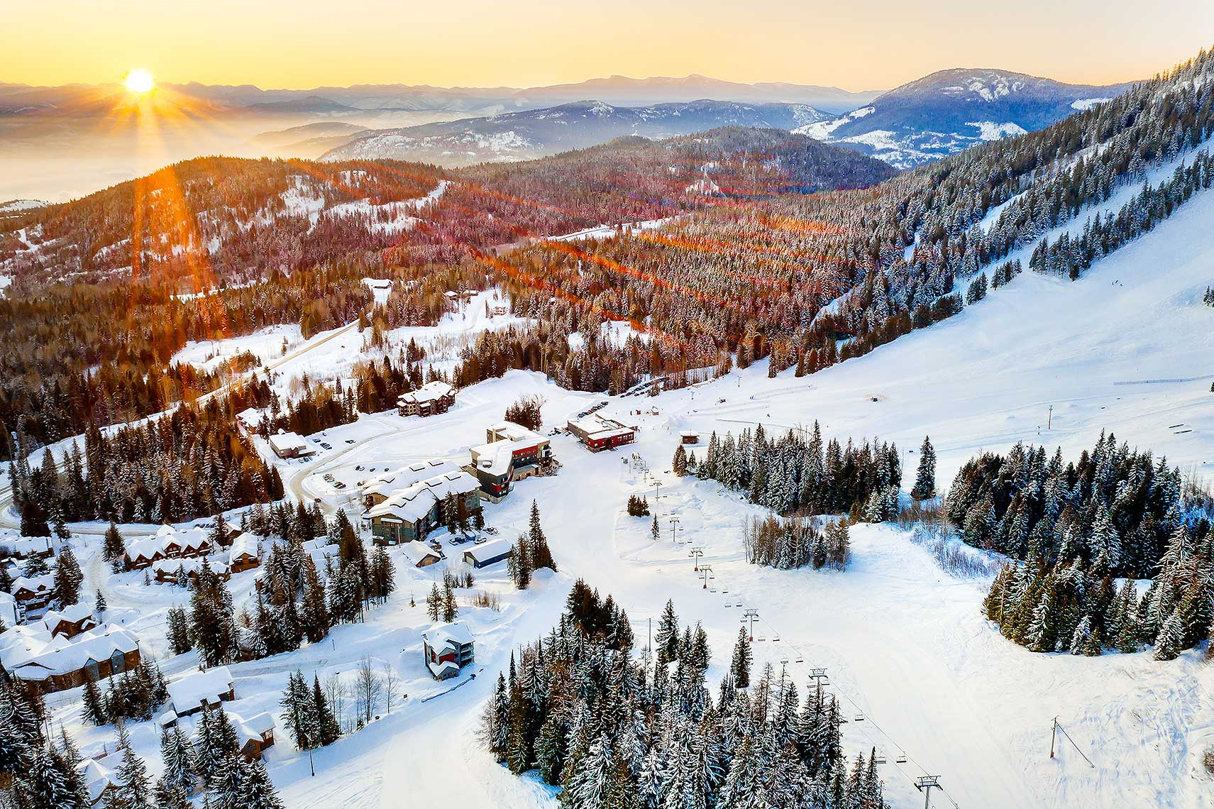 Rossland, BC, Canada - Red Mountain Resort, Kootenays