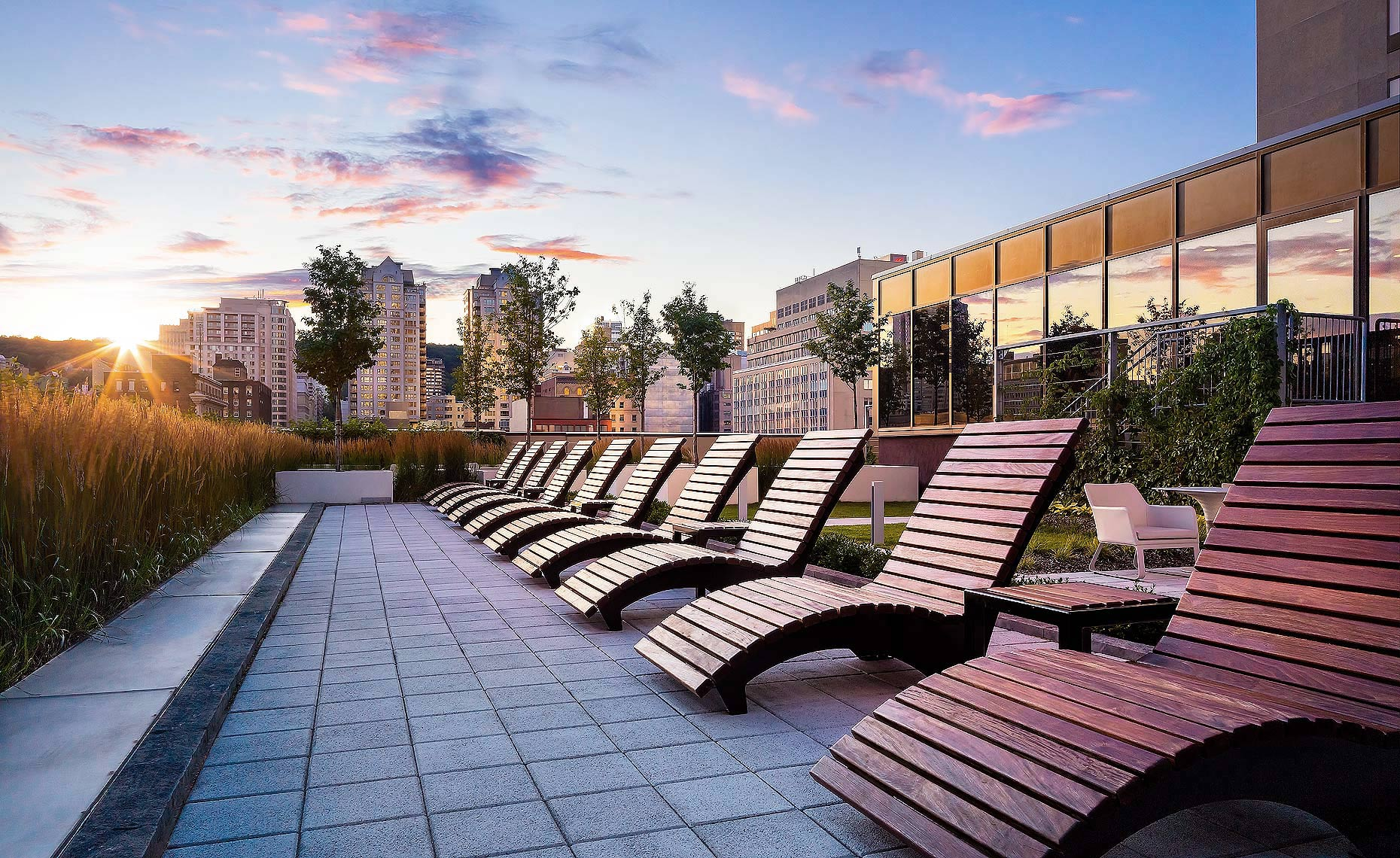 Sheraton Centre Montreal Rooftop Terrace by Hotel Photographer, Brandon Barré