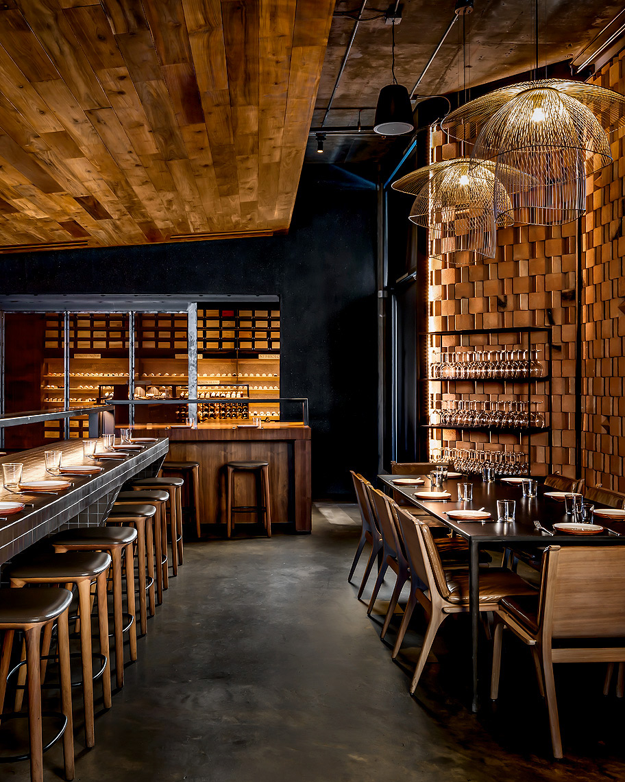 Tesse Restaurant, Los Angeles. Award winning design by Preen Inc.
