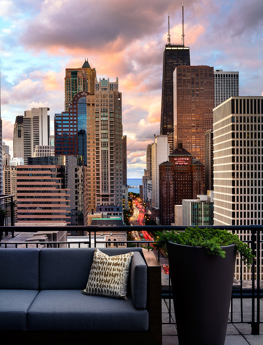 The Gwen Hotel Chicago Terrace - Hotel Photography