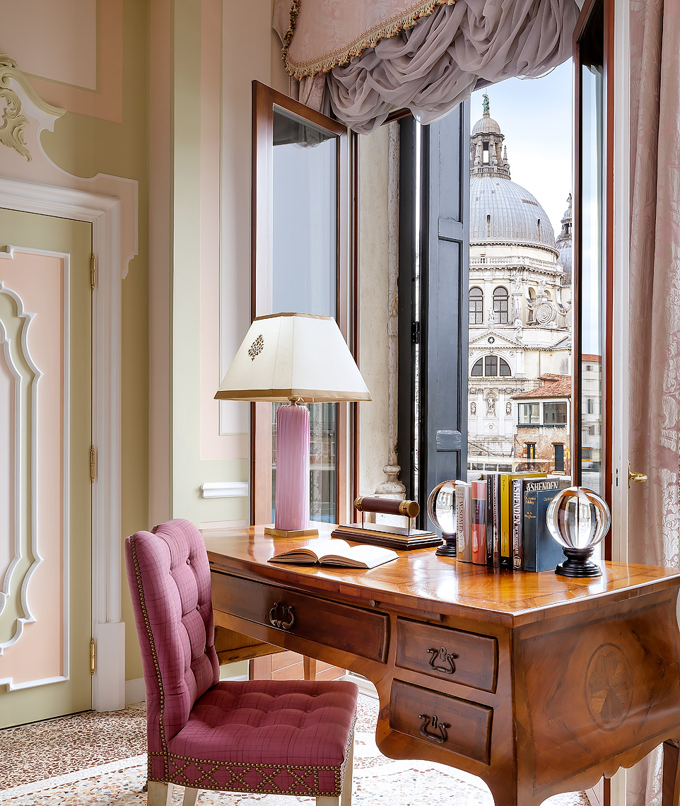 The Gritti Palace, Venice, Italy - Grand Canal view from the Somerset Maugham Suite